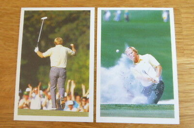 2 Different Jack Nicklaus Golf Question Of Sport Cards 1987 Mint