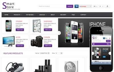 Gadget Boutique eCommerce Website Business For Sale. 1-Click Install.