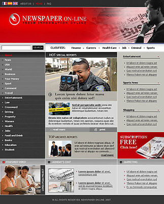 News Website For Sale. 1-Click Install.