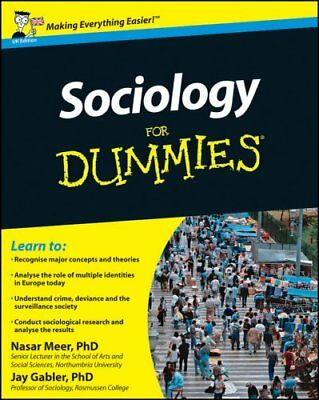 Sociology For Dummies by Nasar Meer 9781119991342 (Paperback, 2011)