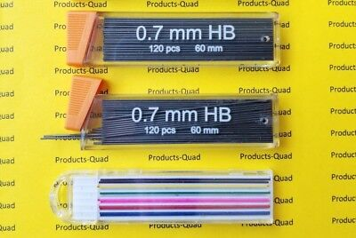 240 .7mm Mechanical pencil lead refill for 0.7 mm mechanical pencil FREE COLOR