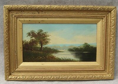 Lovely Very Old Oil on Board  PAINTING OF LANDSCAPE -  ref.216