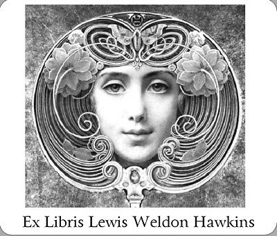 GREAT LITTLE GIFT! Personalized Ex Libris Featuring Art by Lewis Weldon Hawkins