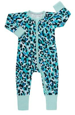 NEW BONDS Jungle Spot Aqua like Meow kapow zippy wondersuit - 0000 / Newborn