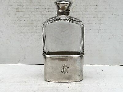 Mid Victorian Silver And Cut Glass Spirit Flask, 1870