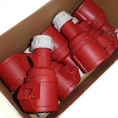 Joblot 7 x 16A 5 Pin Couplers 3P+N+E 3 Phase 380 - 415V IP44 Industrial Fast Fit