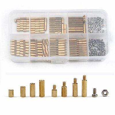 120pcs M3 Brass Standoff Circuit Brass Board PCB Nut Spacer Screw Assortment Set