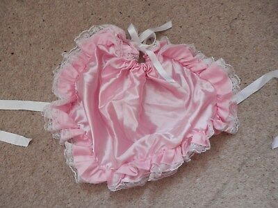 Adult baby bonnet in baby pink