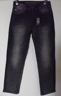 American Eagle Outfitters Mens 26 X 28 Black Extreme Stretch Slim Straight Jeans