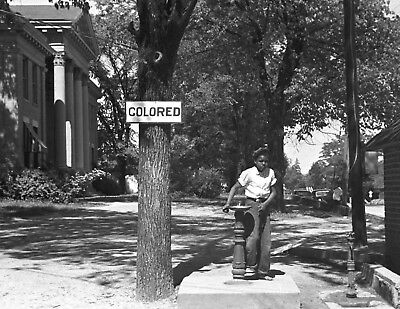 1938-Black History Photo-Colored Drinking Fountain-Halifax County NC Courthouse