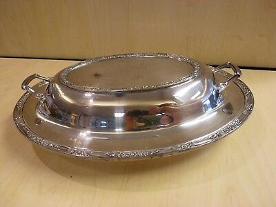 Rogers and Bro. Silverplate Covered Serving Dish / Tray 2312