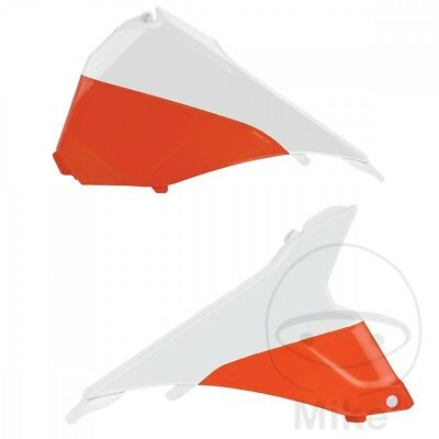 Polisport Air Filter Cover White/Orange Glossy Finish KTM SX 150 2T 2014