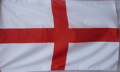 St Georges Flag  5 X 3 FT / SENT FIRST CLASS England