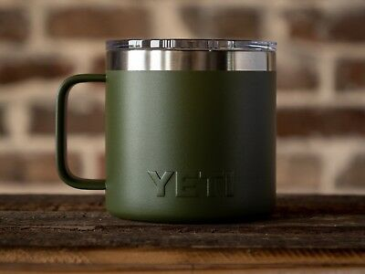NEW YETI Rambler 14oz Mug - OLIVE GREEN - SOLD OUT!! Stainless Steel Coffee Camp