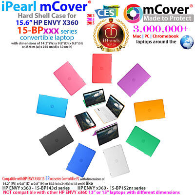 """NEW mCover® Hard Shell Case for 15.6"""" HP ENVY X360 15-BPxxx 2-in-1 laptop"""