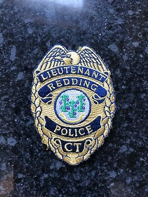 Redding CT Police Lieutenant Badge Patch