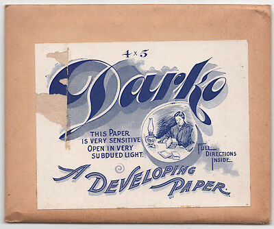1906 Package DARKO Gloss Photographic Developing Paper 3 1/4 x 4 1/4 UN-OPENED