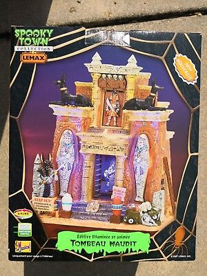 Rare 2007 LEMAX Halloween CURSED TOMB Village SPOOKY TOWN Signature Collection