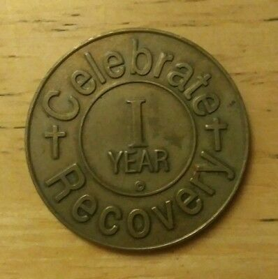 Celebrate Recovery 1 year recovery sobriety chip coin token medallion