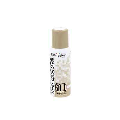 NEW ChefMaster Edible Food Spray Gold 42g