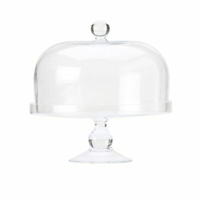 NEW Maxwell & Williams Diamante Glass Cake Stand with Dome 25cm