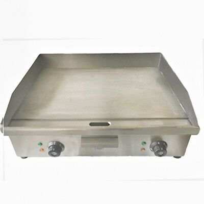 Commercial Electric Flat Griddle Double Twin Hotplate Burger Grill Fryer 600mm