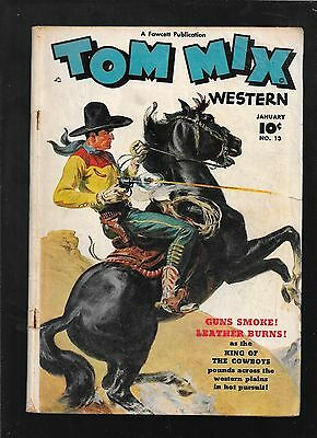 Tom Mix Western 13 January 1949 FAWCETT  very good 4.0