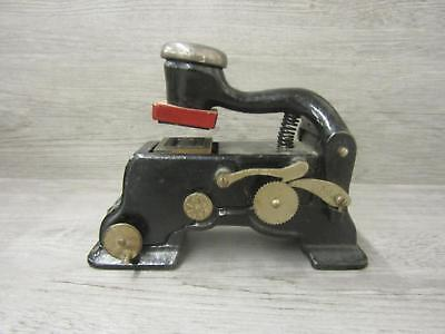 Vintage Cast Iron Stamp Embossing Machine Press Document Seal