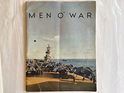 WWII USN Navy Book MEN O WAR About Battleships And Aircraft Carriers.