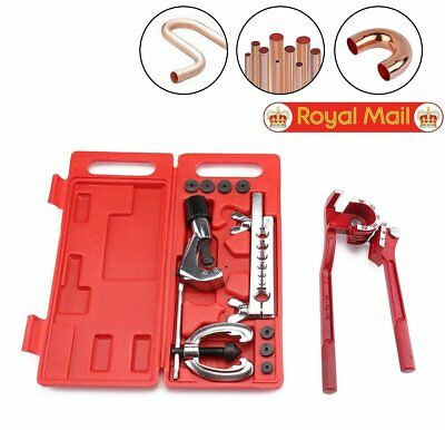 Copper Brake Fuel Pipe Repair Double Flaring Dies Tube Cutter Bender Tool Set