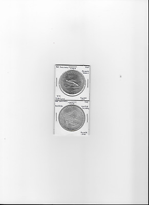 Austrian Olympic (2)  coins--Silver--1964 & 1976 UNC
