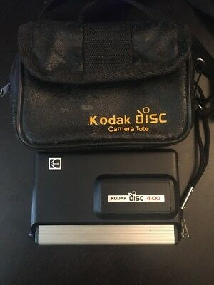 Kodak Disc 4100 Vintage Disc Camera With Case