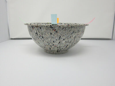 Texas Ware 118 Confetti Splatter Speckled Mixing Bowl 1970s Cookies n Cream Vtg