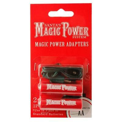 New RAZ Magic Power System 2-AA Battery Adapters Batteries Into Plug In 3416164