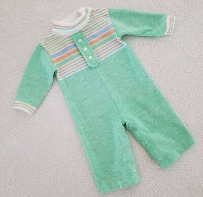 Vintage Baby Girl Boy Romper One Piece Outfit Childrens Clothes 9m Health Tex