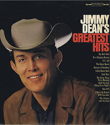 JIMMY DEAN'S GREATEST HITS Columbia Vinyl LP 33 Country Album EX Stereo 1966