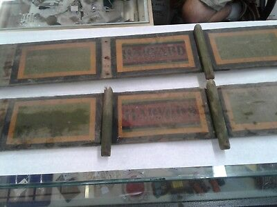 Antique Child's BUCKBOARD wagon side boards Wooden Buggy HARVARD JUNIOR RAILS
