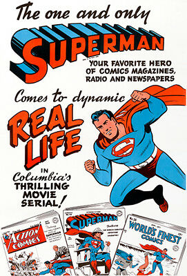 Superman - Comes To Dynamic Real Life - 1948 - Movie Poster