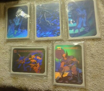 1990 marvel universe hologram card set in thick acrylic protection cases