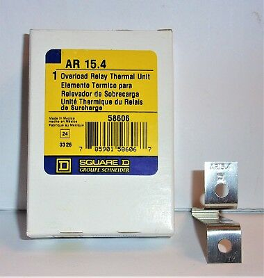 Square D Ar 15 4 Overload Relay Thermal Unit Ar 15.4 New In Box