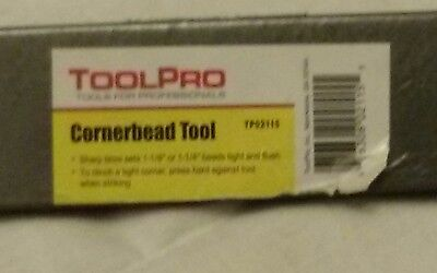 toolpro cornerbead tool      grey metal    new condition.