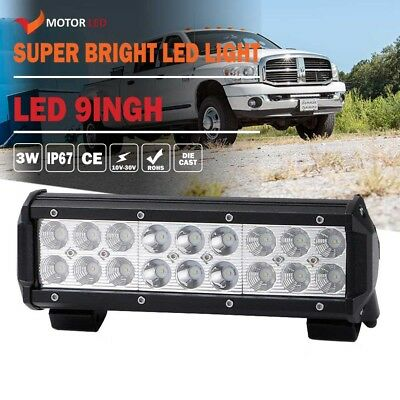 9INCH LED WORK LIGHT BAR COMBO FOR Jeep Offroad Truck Golf Cart Boat Waterproof
