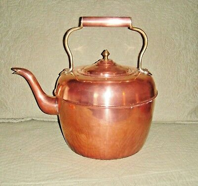 ANTIQUE COPPER AND BRASS KETTLE, Great Condition