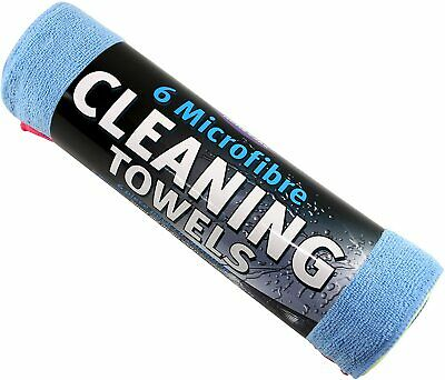 Kent Car Care Extra Large Microfiber Cleaning Towels 6 Piece Pack 30 x 40cm