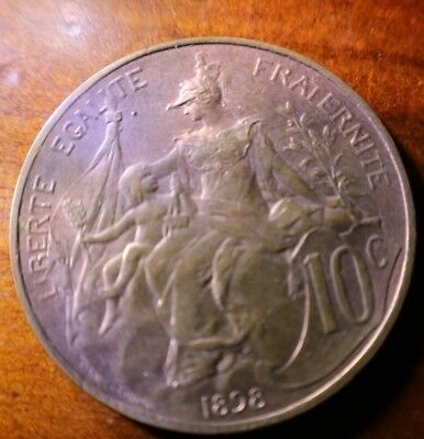 1898 France 10 Cents Great Coin