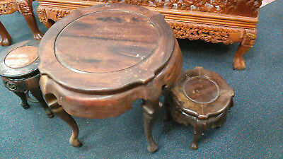 Asian round table and stools