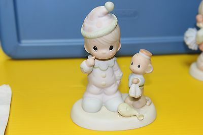 PM PRECIOUS MOMENTS Figurine 522325 1997 Boy Clown Tears Happy Care friend actor