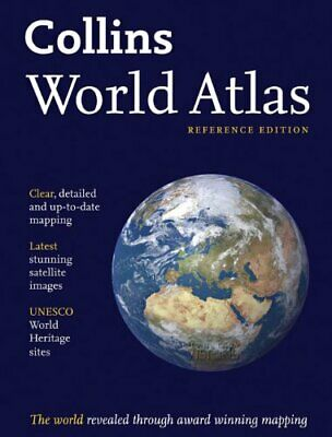 Collins World Atlas: Reference Edition by Collins UK Hardback Book The Cheap