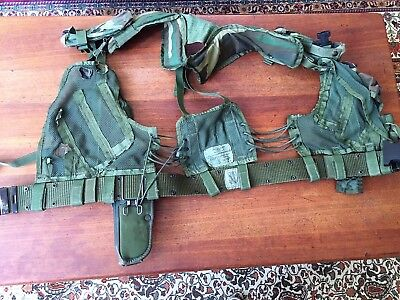 US Army Web Gear, Post Vietnam, rig incl holster