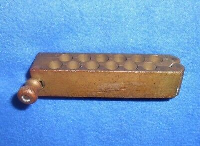 Vintage 12 Cavity Brass Suppository Mold Antique Apothecary Medicine